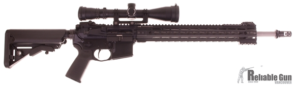 "Picture of Used PWS Custom Build AR-15 Rifle, 18"" 223 Wylde Rainier Arms Ultra Match Matte Stainless Heavy Barrel, PWS Lower, Vltor Upper, Vltor A5 Buffer Tube and Buffer Assembly, LMT SOP Mod Stock, Timney Trigger"