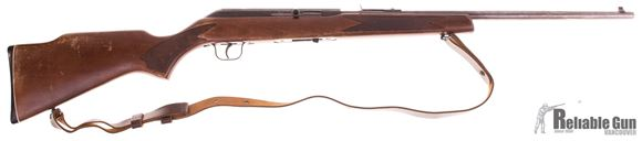 Picture of Used Sears Model 8C (Cooey 64B) Semi Auto 22LR, 20' Barrel w/Sights, Wood Stock, 1 Magazine, Leather Sling, Good Condition