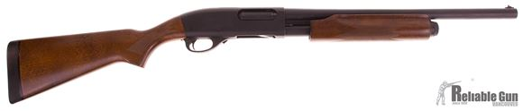 Picture of Used Remington 870 Express Magnum Pump Action Shotgun, 12-Gauge, 2 Barrel Combo, 18.5 & 28'' Barrel, Wood Stock, Metal Trigger Guard, Excellent Condition