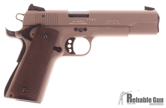 Picture of Used Sig Sauer 1911-22 Semi-Auto .22LR, FDE, With 2 Mags, Original Box, Excellent Condition