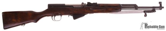 Picture of Used Russian SKS Semi Auto Rifle, 7.62x39mm, Peep Sight, Wood Stock, Blade Bayonet, Very Good Condition