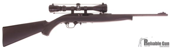 """Picture of Used Mossberg 702 Plinkster Rimfire Semi-Auto Rifle - 22 LR, 18"""", Blue, Black Synthetic Stock, 3 Magazines, Bushnell 3-9x40 Scope, Good Condition"""