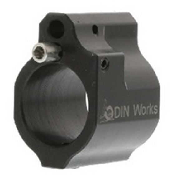 Picture of Odin Works AR 15 Parts - Adjustable Gas Block, Low Profile, .750 Barrel, Carbon Steel, Nitride, 20 Adjustment, Inconel Adjustment Screw and Spring