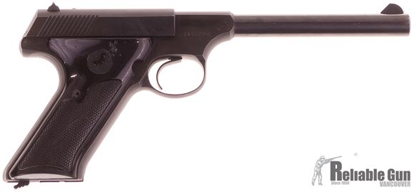 "Picture of Used Colt Huntsman Semi-Auto 22 LR, 6"" Barrel, Fixed  Sights, Black Plastic  Grips, One Mag, Broken Tab on Safety Lever, Good Condition"
