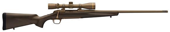 "Picture of Browning X Bolt Pro Bolt Action Rifle - 7mm Rem Mag, 26"", Lightweight Sporter, Cerakote Burnt Bronze, Fluted, Threaded Muzzle Brake, 3rds, Second Generation Carbon Fiber Stock, Spiral Fluted Bolt"