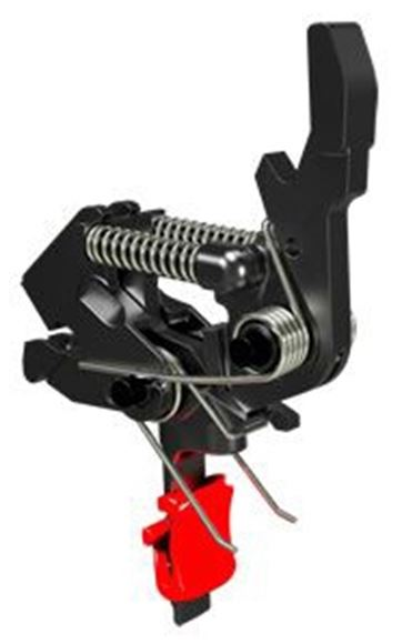 Picture of HiperFire AR15/AR10 Trigger - Hipertouch Competition, Single Stage, 2 Pre-Set Weights 2 1/2 lb and 3 1/2 lb, Flat Trigger, Adjustable Red Trigger Shoe