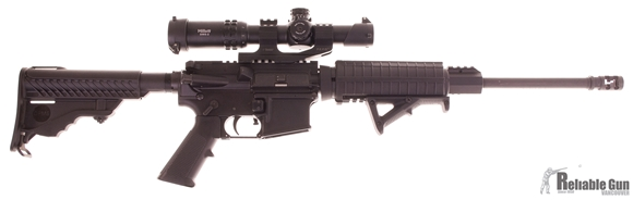 "Picture of Used DPMS Oracle Semi-Auto 223 Rem, 16"" Barrel, With Millett DMS-2 1-6x24mm Scope, PWS Muzzle Brake, 7 Mags & Hard Case, Very Good Condition"
