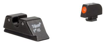 Picture of Trijicon Iron Sights, Trijicon HD XR Night Sights - Glock Trijicon HD XR Night Sight Set, Orange Front Outline, MOS Rear, Fits Glock Models 17/17L/19/22/23/24/25/26/27/28/31/32/33/34/35/37/38/39