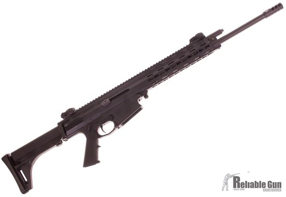 """Picture of Used Robinson Armament XCR-L Standard Semi-Auto Rifle - 7.62x39, 18.6"""" Light Contour Barrel w/Muzzle Brake, FAST Collapsble Stock & AR Stock Conversion w/Buffer Tube Stock, 2 Magazines  MidWest Industries Flip Up Sights, Original Case, Very Good Conditio"""