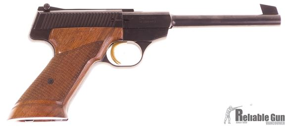 Picture of Used Browning Challenger Semi Auto Pistol, 22 LR, 6.75'' Barrel, Wood Grips, 1 Magazine, Soft Case, Very Good Condition