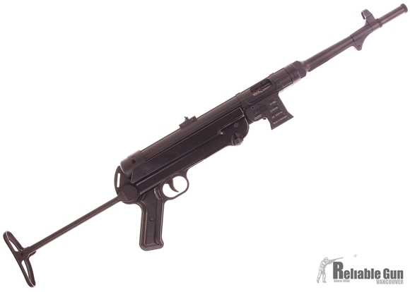 "Picture of Used German Sport Guns (GSG) GSG-MP 40 Rimfire Semi-Auto Rifle - 22 LR, 11.7"", Blued, Folding Metal Stock, Fixd Front Post & Adjustable Rear Sights, 2 Magazines, Excellent Condition"