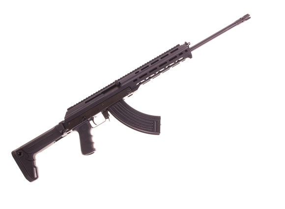 "Picture of M+M Industries M10X-Zhukov Semi Auto Rifle - 7.62x39mm, 18.6"" Nitrided Barrel, M-Lok Aluminum Chassis, Magpul Zhukov Adjustable Folding Stock, 5/30rds, Black"
