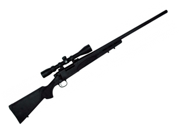"Picture of Remington 700 SPS Varmint Bolt Action Rifle - 308 Win, 26"", Matte Blued, 3rds, SPS Varmint Synthetic Stock, w/ Factory Mounted & Bore Sighted 4-12x40 Scope"