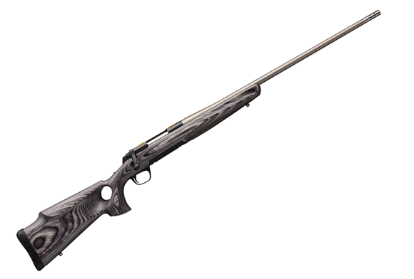 """Picture of Browning X-Bolt Eclipse Hunter Bolt Action Rifle - 30-06 SPRG, 24"""", Sporter Contour, Matte Stainless, Satin Laminate Thumbhole Grip Stock w/Monte Carlo Cheekpiece, 4rds, Adjustable Feather Trigger"""
