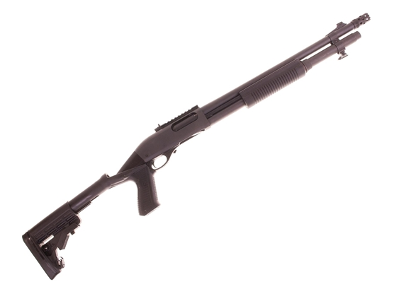 "Picture of Used Remington 870 Tactical Pump-Action 12ga, 3"" Chamber, 18"" Barrel, XS Ghost Ring Sight Rail, Breacher Choke, Knoxx Specops Stock, Excellent Condition"