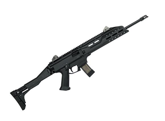 """Picture of CZ Scorpion Evo 3 S1 Carbine Semi Auto Carbine - 9mm, 18.6"""" Factory Barrel, Muzzle Brake, 5rds, Black, Non Restricted"""