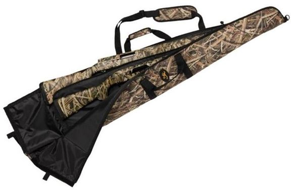"Picture of Browning Gun Cases, Flexible Gun Cases - Two Gun Floater Shotgun Case, 52"", Heavy Duty Polyester Fabric Shell & Liner, Center Panel Divider & Accessory Pocket, with Hook & Loop Closure"