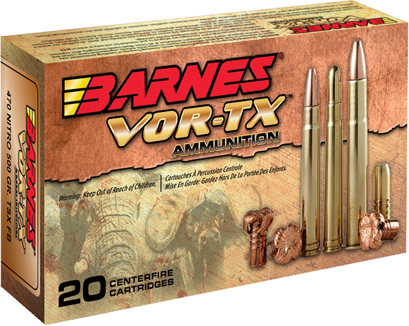 Picture of Barnes VOR-TX Premium Hunting Rifle Ammo - 270 Win, 130Gr, TTSX BT, 200rds Case