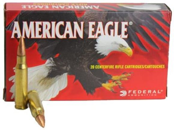 Picture of Federal American Eagle Rifle Ammo - 7.62x39mm Soviet, 124Gr, FMJ, 20rds Box