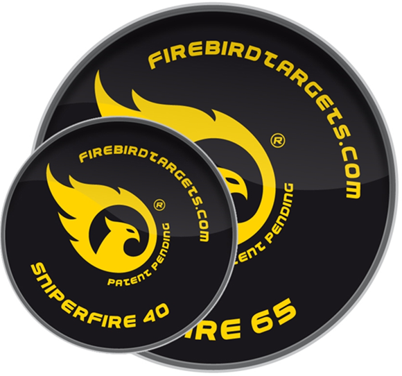 Picture of Firebird Exploding Targets, For Live Firing Weapons - SniperFire 40mm Reactive Targets, 10-Pack