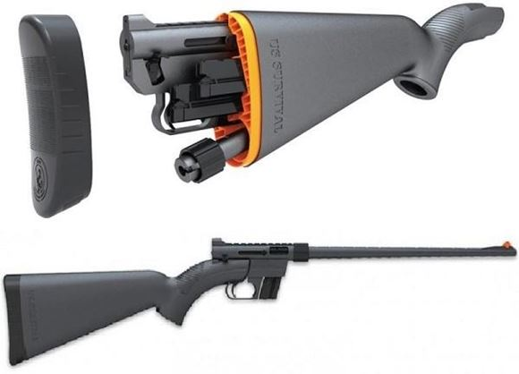 "Picture of Henry US Survival AR-7 Rimfire Semi-Auto Rifle - 22 LR, 16.5"", Teflon Coated Black, ABS Plastic Stock, 2x8rds"