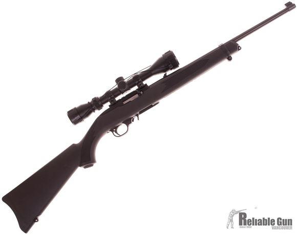 Picture of Used Ruger 10/22 Semi Auto Rifle, 22 LR, Carbine Black Stock, Weaver 3-9x40 Scope, Case, 1 Magazine, Excellent Condition