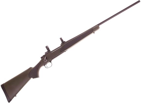 """Picture of Used Remington 700 XCR II Bolt Action Rifle - 270 Win, 24"""", Black TriNite, Synthetic Hogue OverMolded Grip & Fore-end , Leupold Dual Dovetail 30mm Scope Rings, Very Good Condition"""