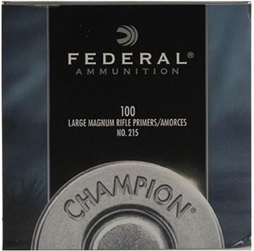 Picture of Federal Components, Federal Champion Centerfire Primers - No. 215, Large Magnum Rifle, 100ct Box