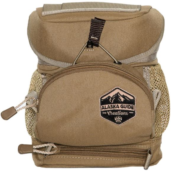 Picture of Alaska Guide Creations Binocular Harness Packs - Hybrid With MAX Pocket Bino Pack, Coyote Brown, Fits Up To 10x42 Binoculars, & Medium Sized Rangefinders
