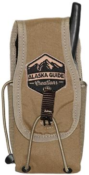 "Picture of Alaska Guide Creations Bino Pack Accessories - In Line Accessory Pouch, Coyote Brown, 3"" (Width) x 4-7.5"" (Adjustable Height) x 2.5"" (Depth)"