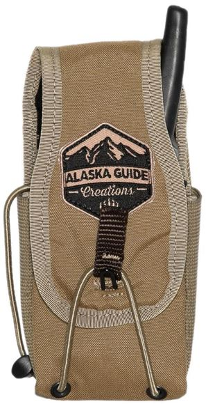 """Picture of Alaska Guide Creations Bino Pack Accessories - In Line Accessory Pouch, Coyote Brown, 3"""" (Width) x 4-7.5"""" (Adjustable Height) x 2.5"""" (Depth)"""