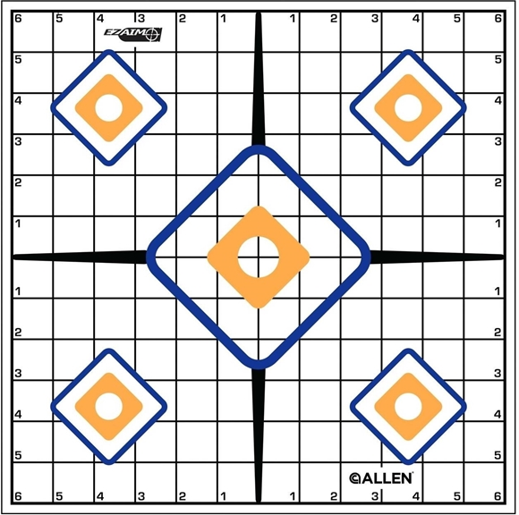 """Picture of Allen Shooting Accessories, Targets/Throwers - EZ Aim Sight Grid Target, 12""""x12"""", 12 Pack"""