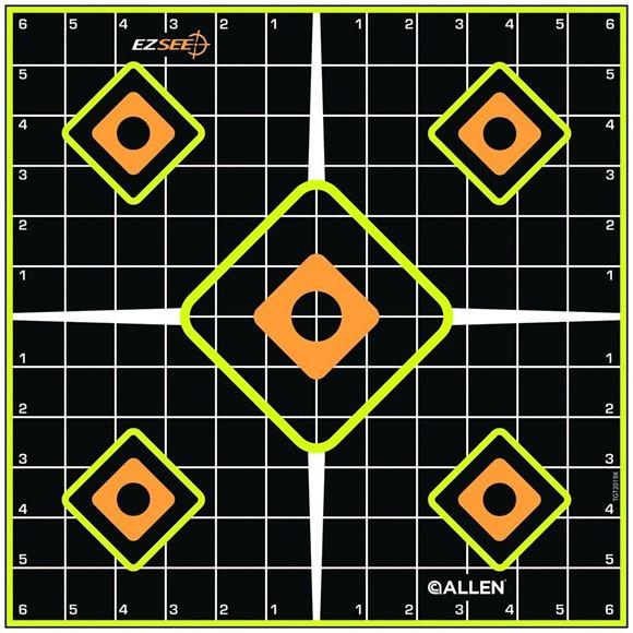 "Picture of Allen Shooting Accessories, Targets/Throwers - EZ Aim Splash Adhesive Grid Target, 12""x12"", 5 Pack"