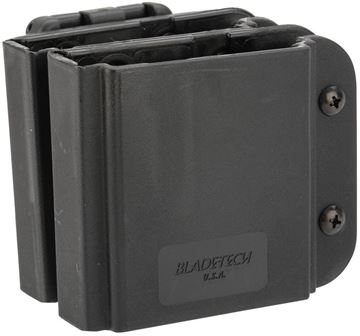 Picture of Blade-Tech Revolution AR Magazine Pouches, Revolution AR-15/M4 Double Mag Pouches - Tek-Lok, Mag Vertical, Black, Right Hand