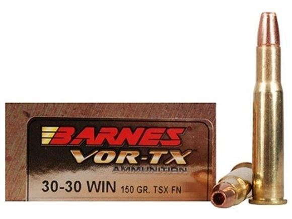Picture of Barnes VOR-TX Premium Hunting Rifle Ammo - 30-30 Win, 150Gr, TSX FN, 20rds Box