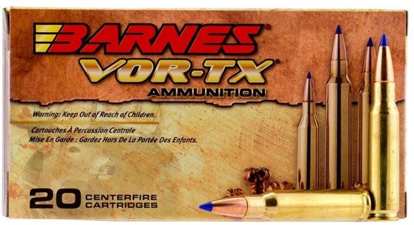 Picture of Barnes VOR-TX Long Range Rifle Ammunition - 300 Win Mag, 190Gr, LRX Boat Tail Lead-Free, 20rds Box