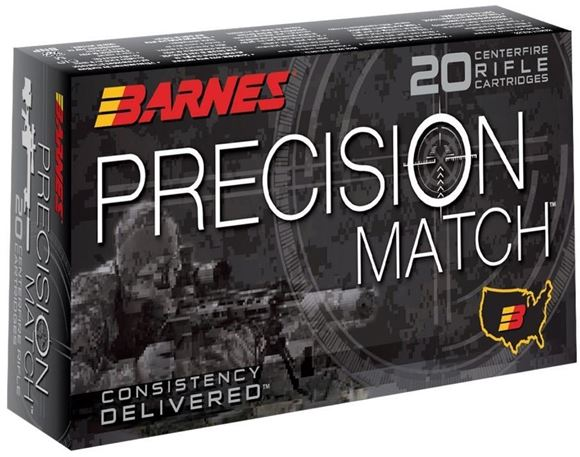 Picture of Barnes Precision Match Rifle Ammo - 6.5 Creedmoor, 140gr, Open Tip Match Boat Tail, 20rds Box