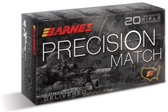 Picture of Barnes Precision Match Rifle Ammo - 338 Lapua Mag, 300Gr, OTM BT, 20rds Box