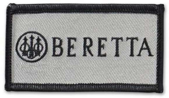 Picture of Beretta Caps - Velcro Tactical Patch, Beretta Logo, Silver w/Black