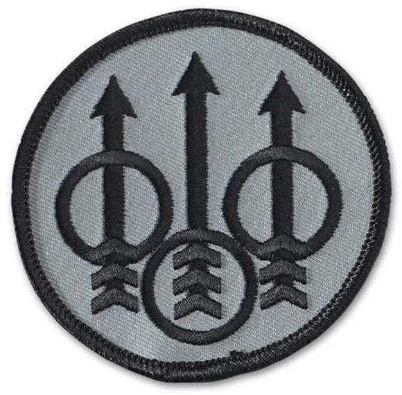 Picture of Beretta Caps - Velcro Tactical Patch, Beretta Trident Logo, Silver w/Black