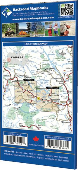 Picture of Backroad Mapbooks, Adventure Map - British Columbia, Bulkley ~ Nechako, Smithers to Vanderhoof, 1st Edition 2012