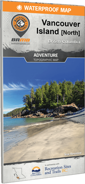 Picture of Backroad Mapbooks, Adventure Map - British Columbia, Vancouver Island North, 1st Edition 2017