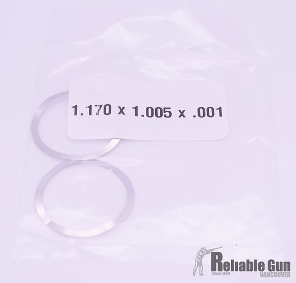 """Picture of Brownells AR-15 Parts - Barrel Nut Shim Kit,  (2) .001"""", (2) .003"""", and (1) .007"""" Thick Shims"""