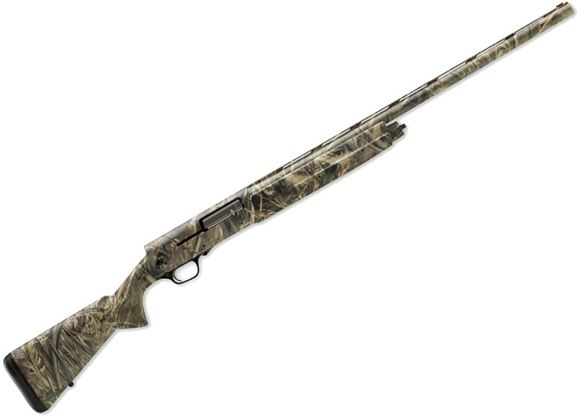 """Picture of Browning A5 Realtree Max-5 Semi-Auto Shotgun - 12Ga, 3-1/2"""", 30"""", Lightweight Profile, Vented Rib, Realtree Max-5 Camo, Aluminium Alloy Receiver, Dura-Touch Armor Coating Composite Stock, 4rds, Fiber Optic Front & Ivory Mid Bead Sights, Invector-DS Flush"""