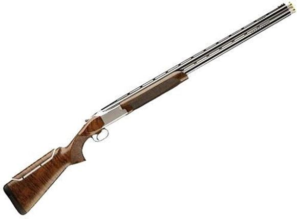 "Picture of Browning Citori 725 Sporting w/Adjustable Comb Over/Under Shotgun - 12Ga, 3"", 30"", Vented Top & Side Rib, Ported, Polished Blued, Silver Nitride Steel Low Profile Gold Accented Engraving Receiver, Gloss Oil Grade III/IV Black Walnut Stock, HiViz Pro-Comp"