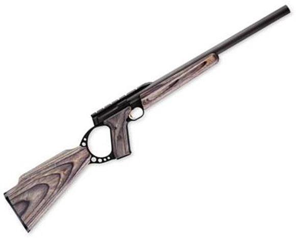 "Picture of Browning Buck Mark FLD Target Gray Laminate Rimfire Semi-Auto Rifle - 22 LR, 18"", Heavy Bull Sporter Contour, Matte Blued, Aluminum Alloy Receiver, Satin Gray Laminate Stock, 10rds, Integral Scope Rail"