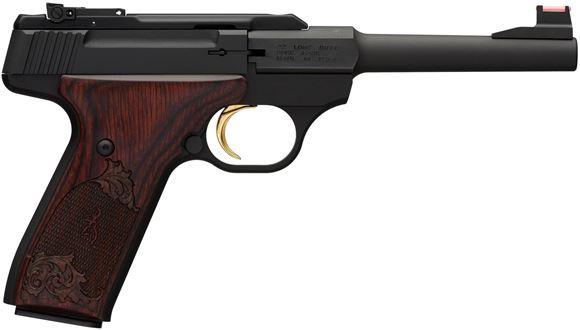 "Picture of Browning Buck Mark Challenge Rosewood Semi-Auto Rimfire Pistol - 22 LR, 5.5"",  Matte Black Receiver & Round Barrel, Rosewood Grips, 10rds, TruGlo Fiber Optic Front & Pro-Target Rear Sight"