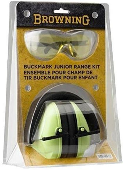 Picture of Browning Shooting Accessories, Eye & Ear Protection - Junior Range Kit (Glasses & Muff), NRR 19 dB, Green