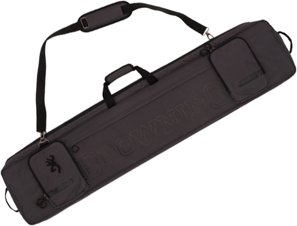 "Picture of Browning Rifle Case - Range Pro Rectangle, Charcoal, 50"", Heavy Duty Rip-Stop Fabric Shell, Brushed Tricot Lining"