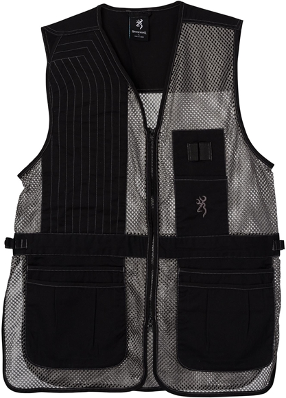 Picture of Browning Outdoor Clothing, Shooting Vests - Trapper Creek Mesh Shooting Vest, Black/Grey, XL